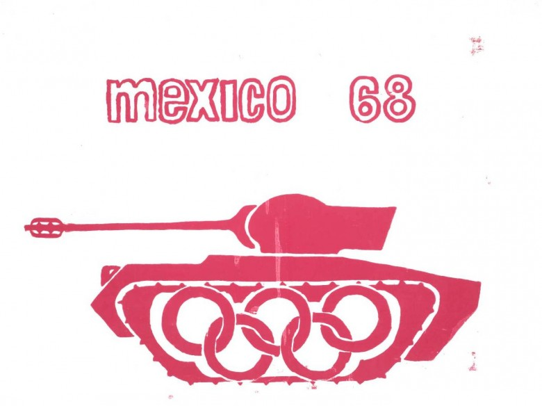 Ephemera - Poster - Paris Student Political Mexico 1968 (tank)