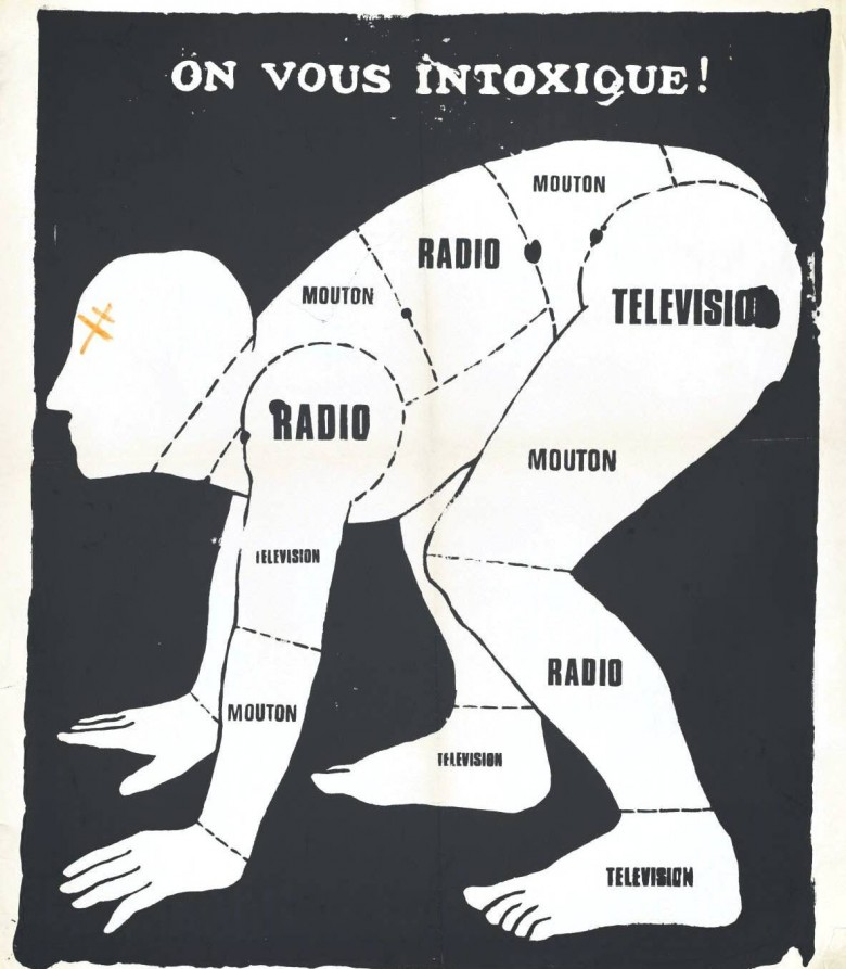 Ephemera - Poster - Paris Student Political On Nous Intoxique 1969
