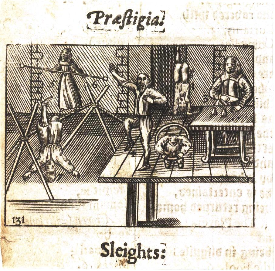Handbill - Entertainment - Acrobat - Prastigial Slights 17th C