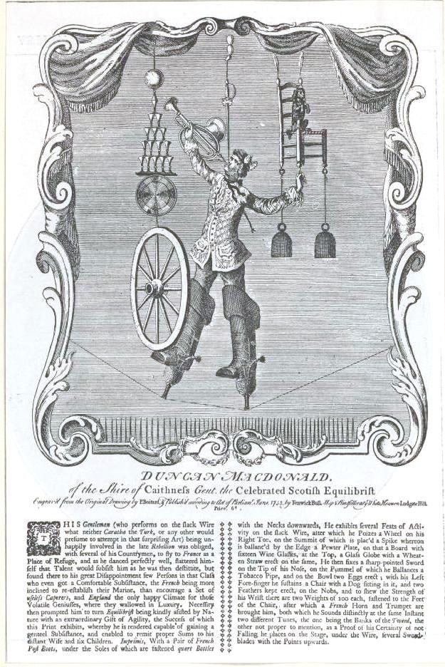Handbill - Entertainment - Acrobat - Scottish Equibrilist
