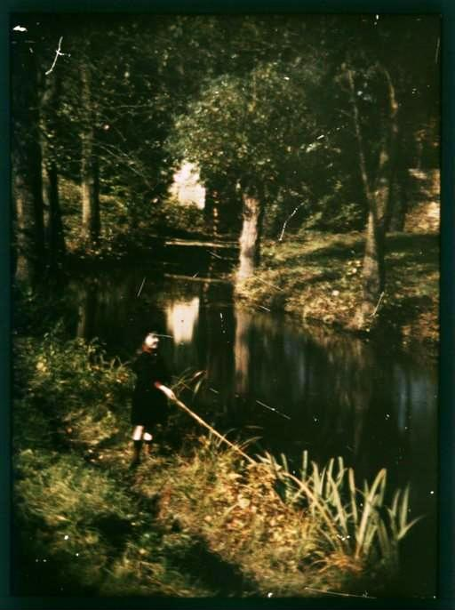 Portrait  - Photo - Girl Fishing - Color Photo 1