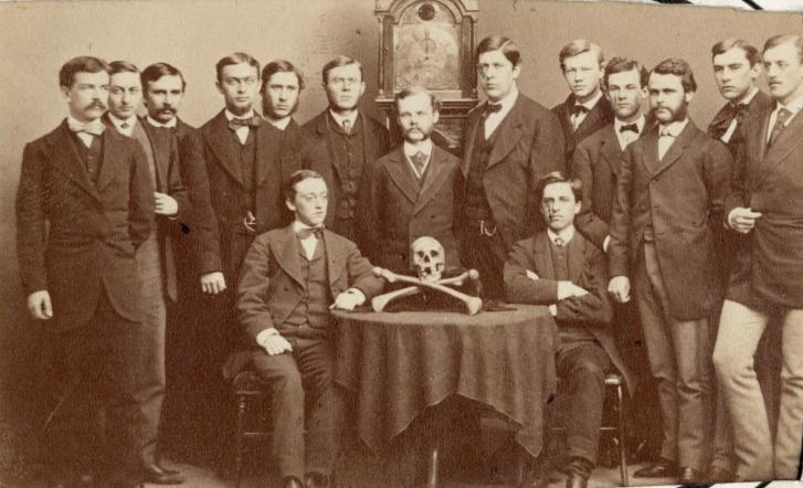 Portrait - Photo - Group - Skull and crossbones Yale 1800s