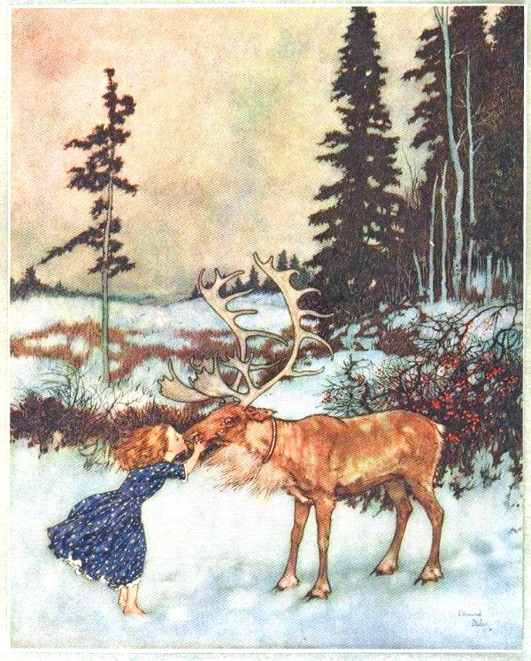 Seasonal - Winter - Kissing - a - reindeer